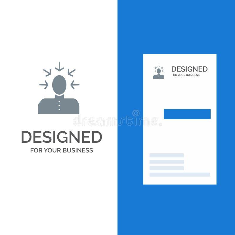 Auserlesen, Wählen, Kritik, Mensch, Person Grey Logo Design und Visitenkarte-Schablone lizenzfreie abbildung