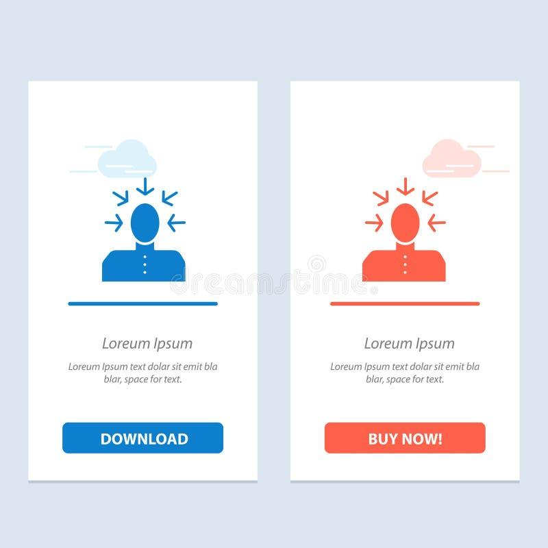 Auserlesen, Wählen, Kritik, menschliches, Personen-Blau und rotes Download und Netz Widget-Karten-Schablone jetzt kaufen stock abbildung