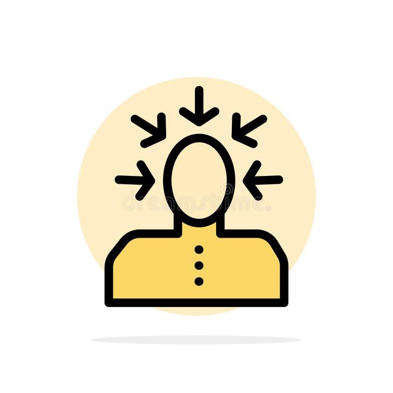 Auserlesen, wählend, Kritik, menschlich, flache Ikone Farbe des Personen-Zusammenfassungs-Kreis-Hintergrundes vektor abbildung