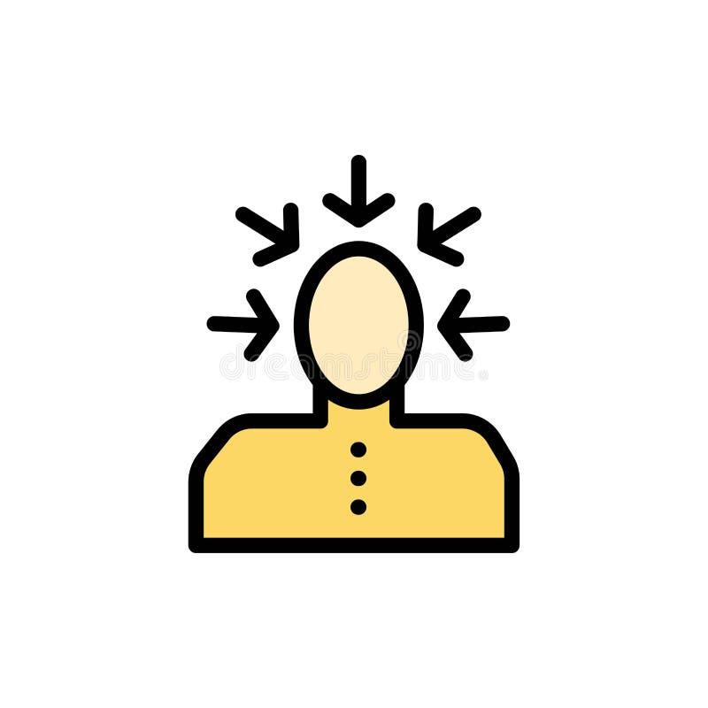 Auserlesen, wählend, Kritik, menschlich, Personen-flache Farbikone Vektorikonen-Fahne Schablone lizenzfreie abbildung