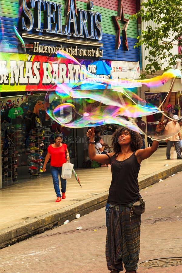Ausführender in Panama-Stadt stockbilder