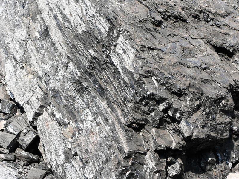Ausführliche Ansicht der natürlichen schwarzen Kohle lizenzfreies stockbild