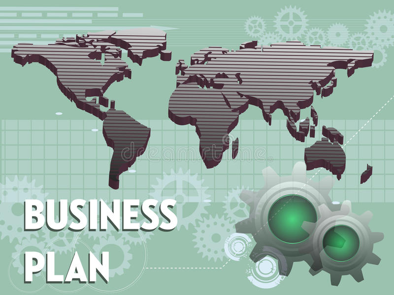 Ausführliche Geschäfts-Karikatur-Serie vektor abbildung
