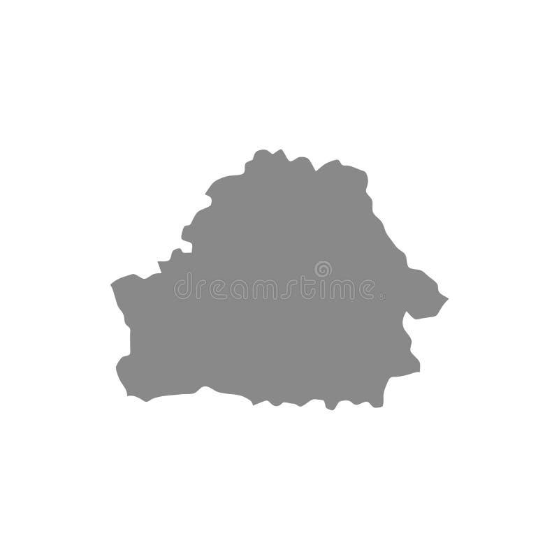 Ausführliche graue Vektorkarte des Hochs – Weißrussland-Karte vektor abbildung