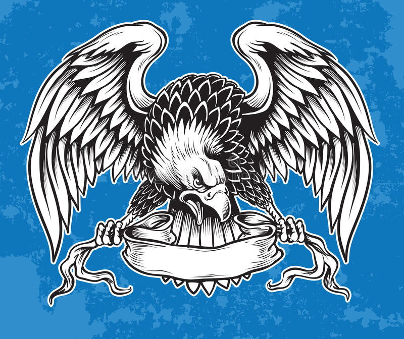 Ausführliche Hand gezeichnetes Eagle vektor abbildung