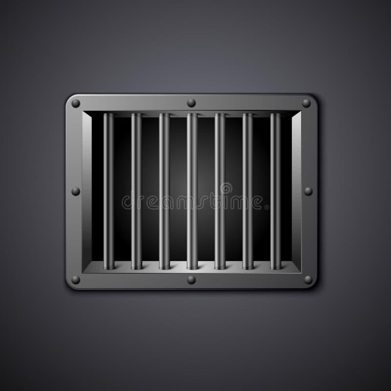 Gefängnisfenster stock abbildung