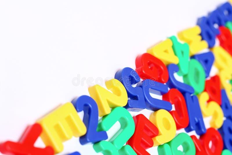 Ausführliche Plastikbuchstaben lizenzfreie stockfotografie