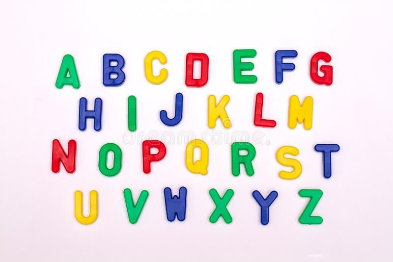 Ausführliche Plastikbuchstaben lizenzfreies stockbild