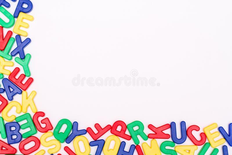 Ausführliche Plastikbuchstaben stockfotos