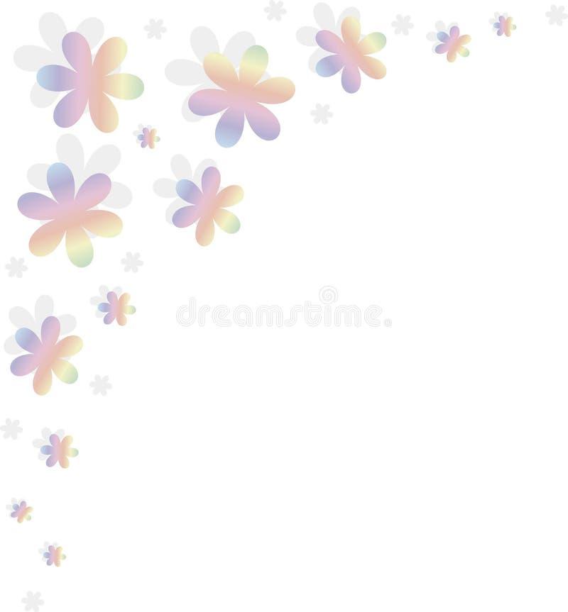 Ausführliche vektorzeichnung Färben Sie Blumen mit Steigung und Schatten auf Weiß stock abbildung