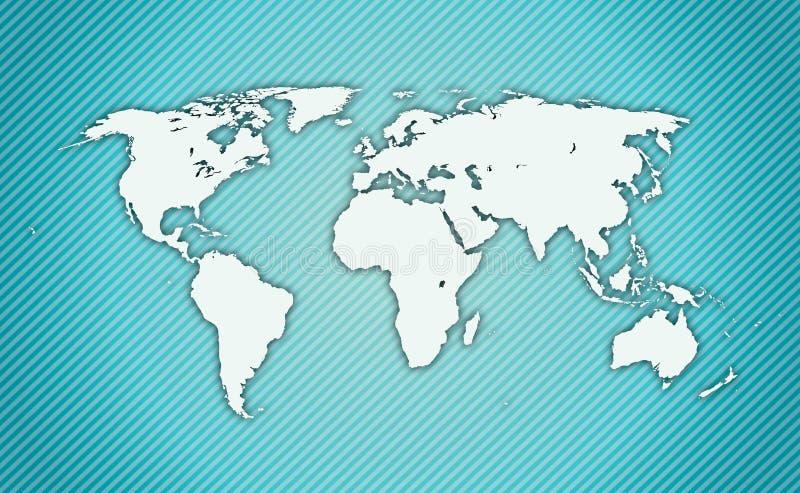 Ausführliche Weltkarte stock abbildung