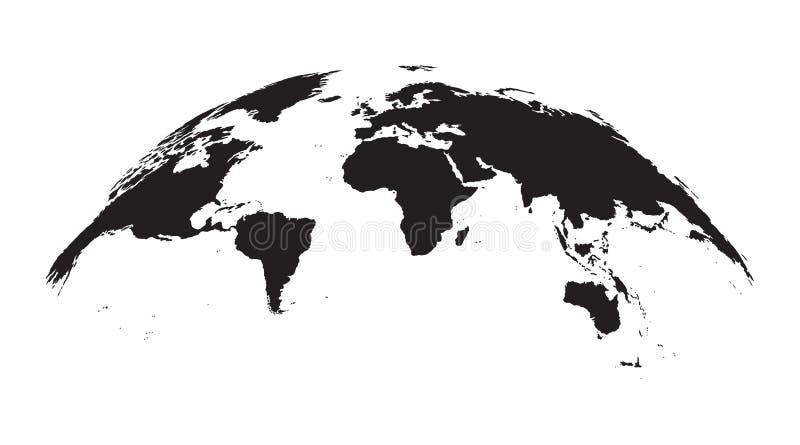 Ausführliche Weltkarte Kugel stock abbildung