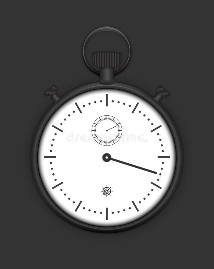 Ausführlicher Vektor der klassischen analogen Stoppuhr vektor abbildung