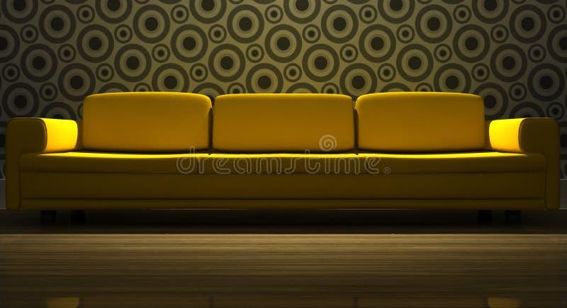 Ausführliches 3d, das modernes Sofa überträgt stock abbildung