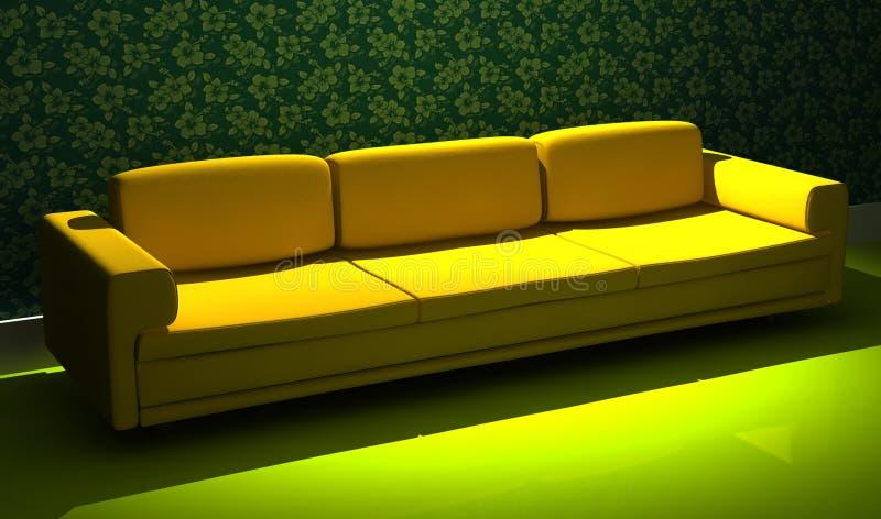 Ausführliches 3d, das modernes Sofa überträgt lizenzfreie abbildung