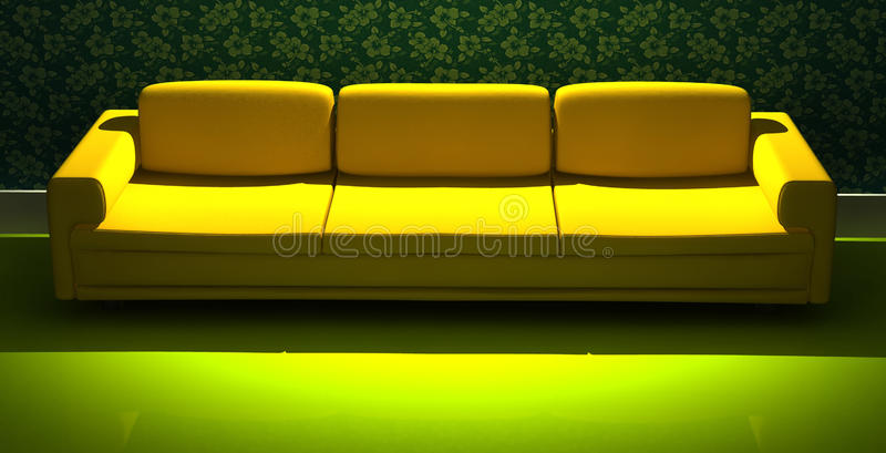 Ausführliches 3d, das modernes Sofa überträgt vektor abbildung