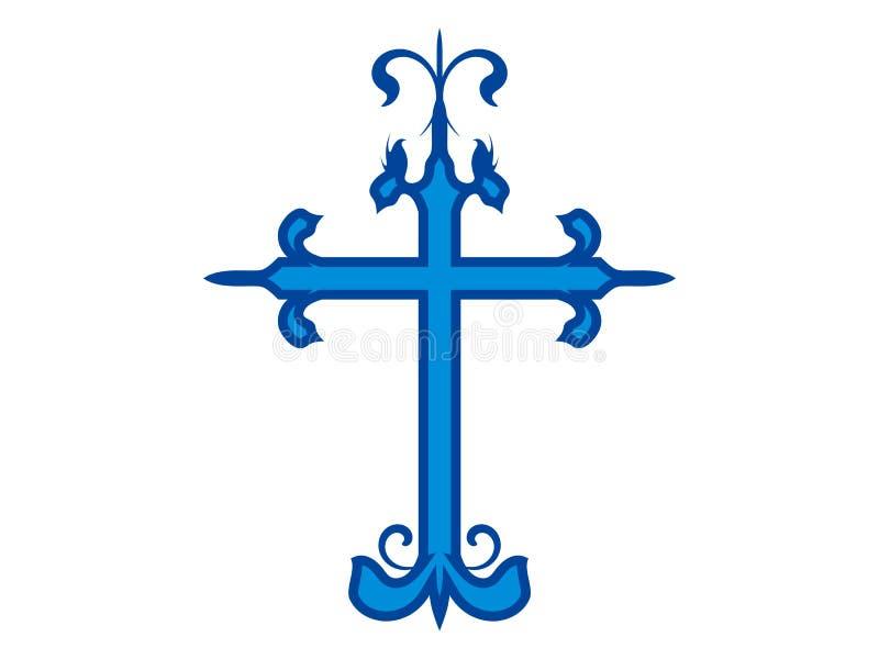 Ausführliches Kreuz lizenzfreies stockbild
