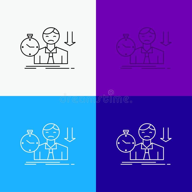 Ausfall, Ausfallung, traurig, Krise, Zeit Ikone über verschiedenem Hintergrund r Vektor ENV 10 lizenzfreie abbildung
