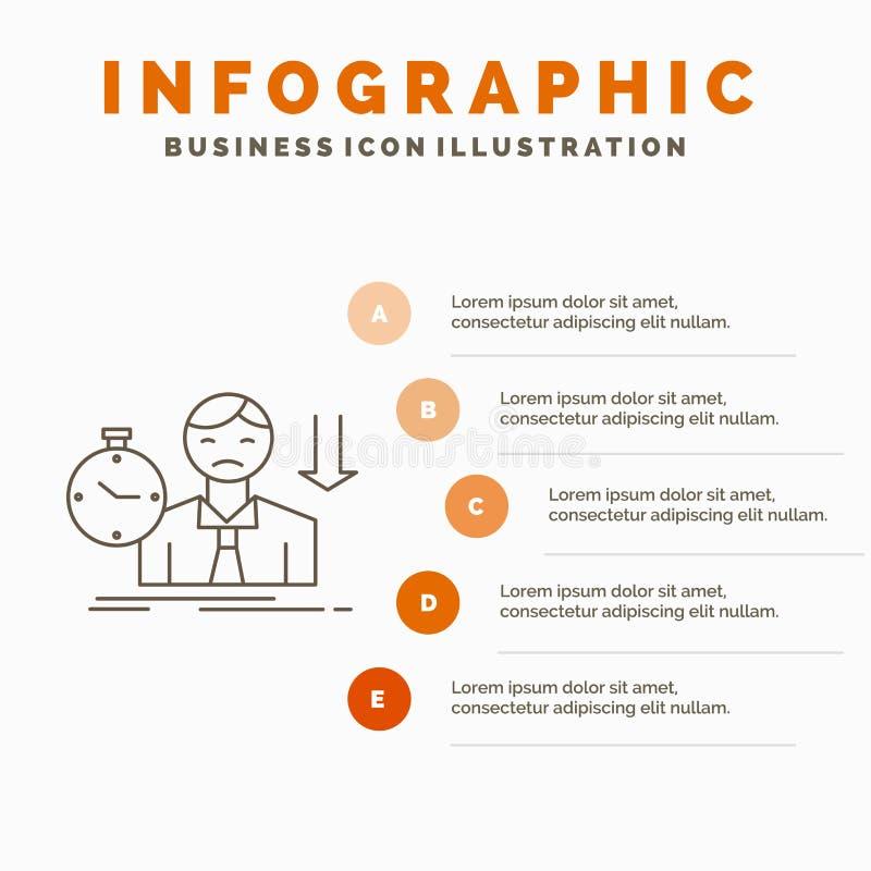 Ausfall, Ausfallung, trauriges, Krise, Zeit Infographics-Schablone f?r Website und Darstellung r lizenzfreie abbildung