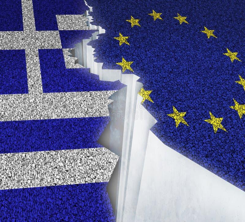 Ausfall Griechenlands Europa stock abbildung