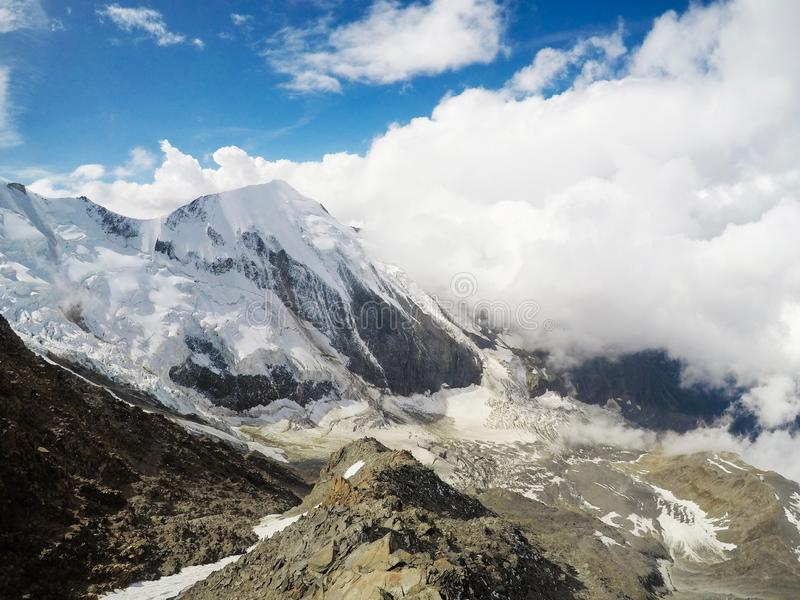 Ausflug DU Mont Blanc/Col. de Voza, Frankreich lizenzfreie stockfotografie