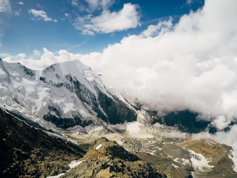 Ausflug DU Mont Blanc/Col. de Voza, Frankreich lizenzfreie stockbilder