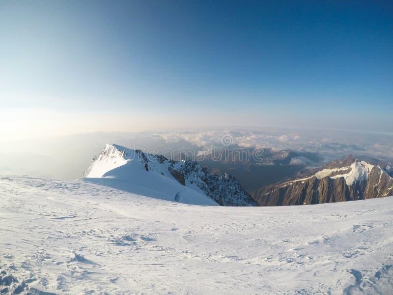 Ausflug DU Mont Blanc/Col. de Voza, Frankreich lizenzfreies stockbild