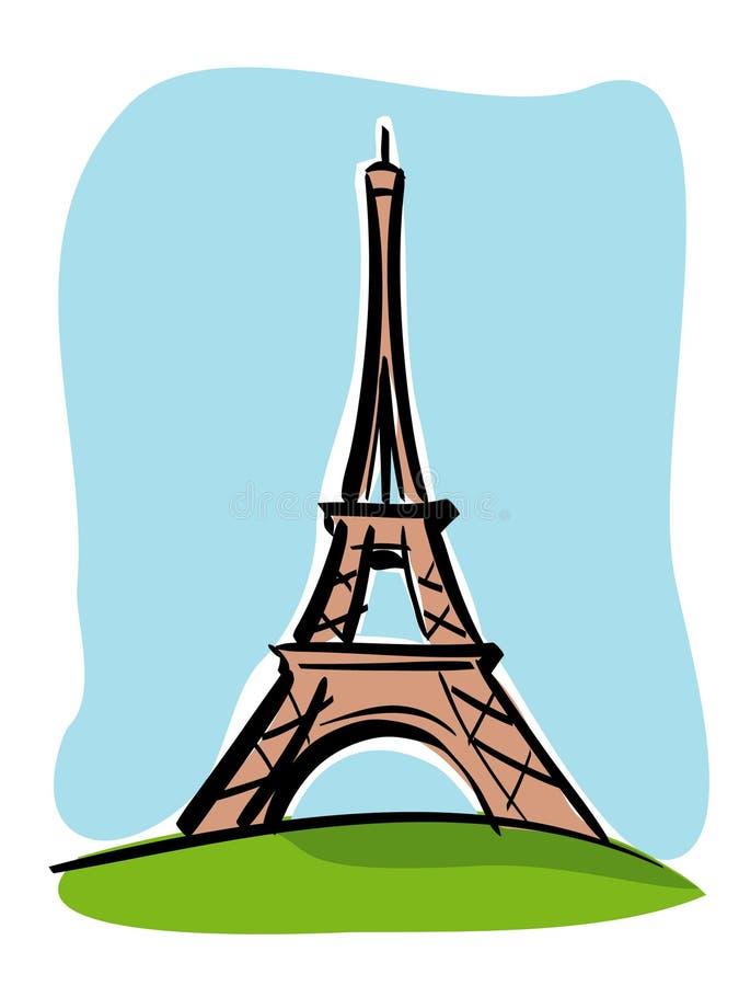 Ausflug Eiffel lizenzfreie abbildung