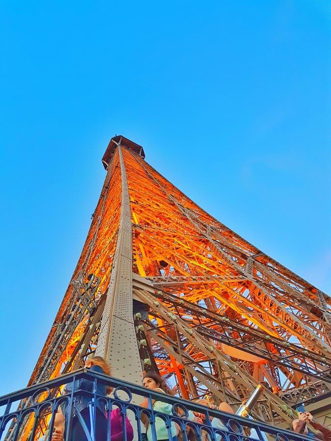 Ausflug Eiffel Paris stockbild