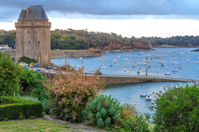 Ausflug Solidor nahe Heiligem Malo, Bretagne lizenzfreie stockfotos