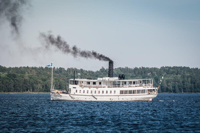 Ausflugboot Mariefred stockfotografie