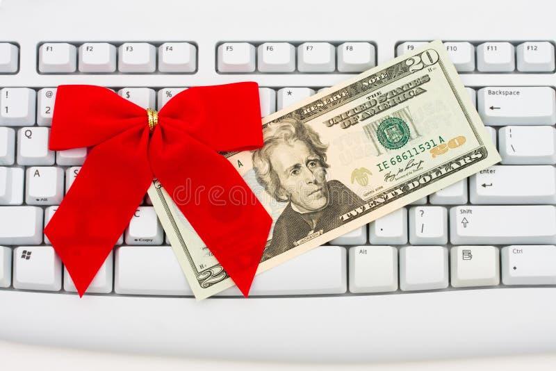 Ausgaben-Geld Online stockfoto