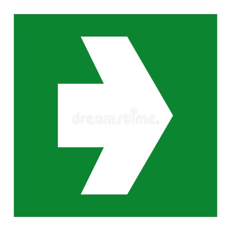 Ausgangs-Grün-Zeichen-Isolat auf weißem Hintergrund, Vektor-Illustration ENV 10 vektor abbildung