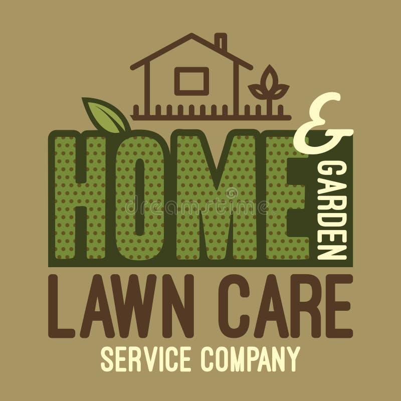 Ausgangs- und Gartenrasenpfleget-shirt lizenzfreie abbildung