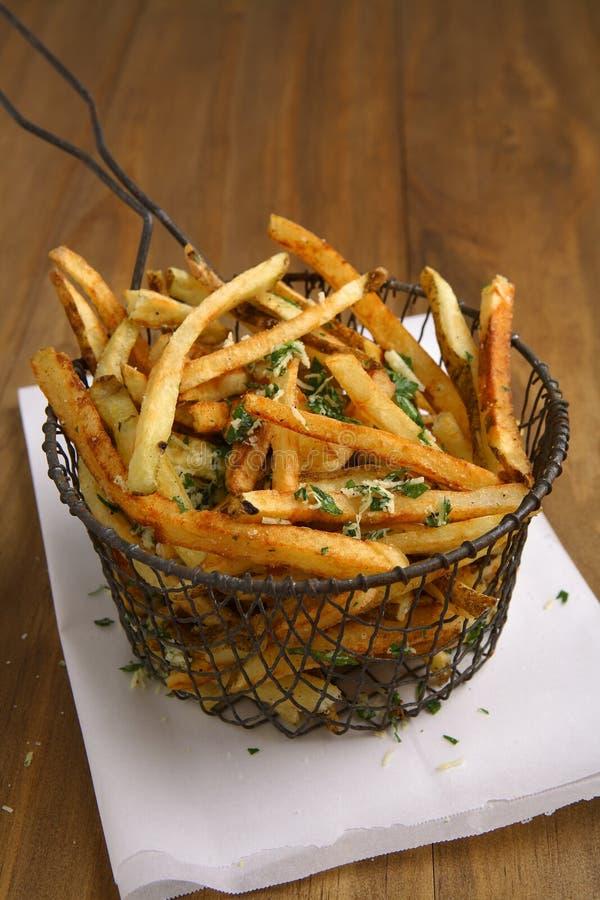 Ausgangsschnittpommes-frites stockfotos