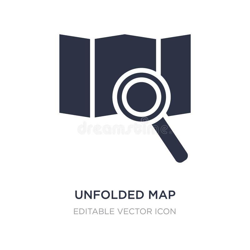 ausgebreitete Kartenikone auf weißem Hintergrund Einfache Elementillustration vom Reisekonzept vektor abbildung