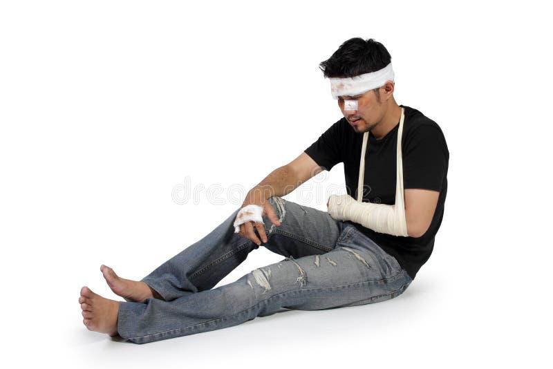 Ausgedehnte Beine des Unfalles Opfer stockbild