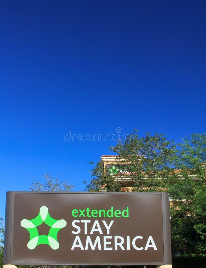 Ausgedehntes Aufenthalts-Amerika-Motel lizenzfreies stockbild