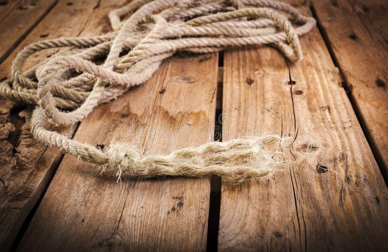 Ausgefranstes Seil stockbilder