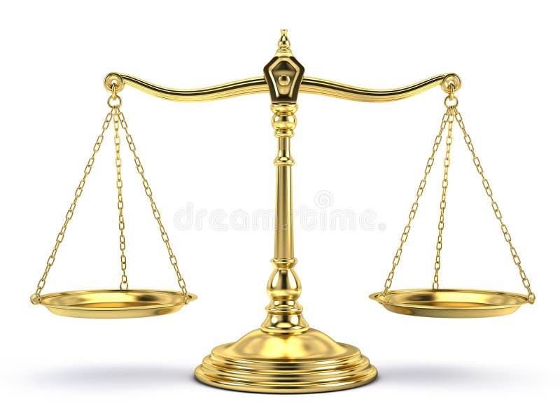 Ausgeglichene Goldskala auf Weiß vektor abbildung