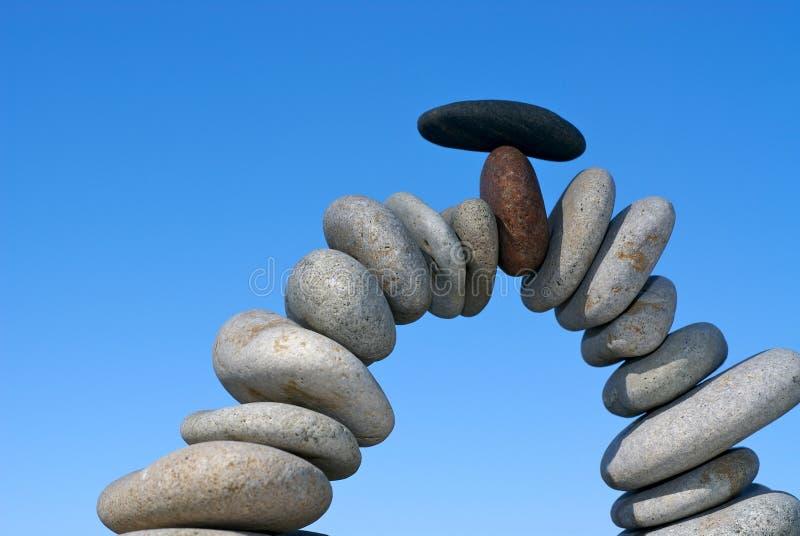 Ausgeglichene Steine lizenzfreies stockbild