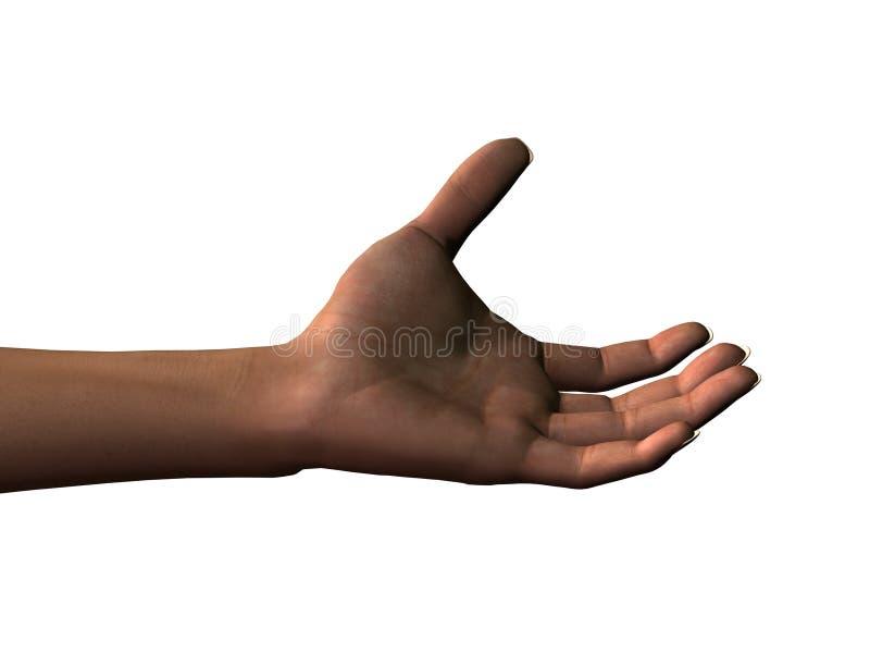 Ausgestreckte linke Hand lizenzfreie abbildung