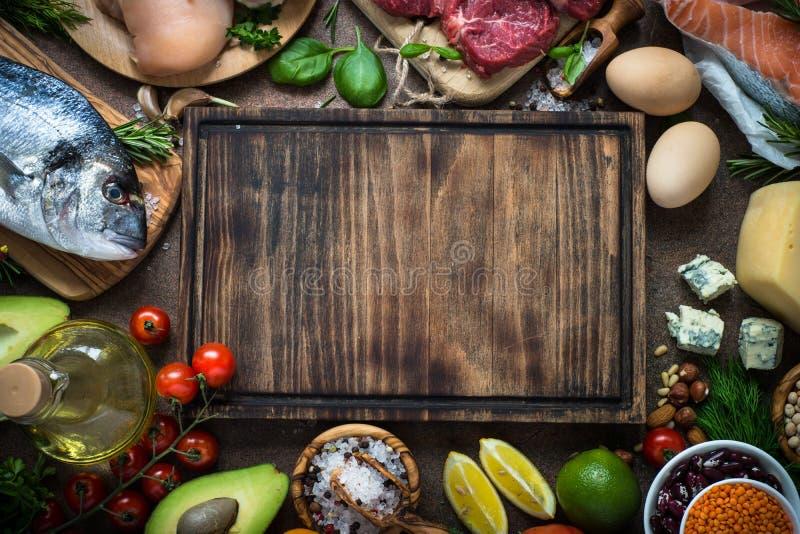 Ausgewogene Diät Biologisches Lebensmittel für gesunde Nahrung stockfoto