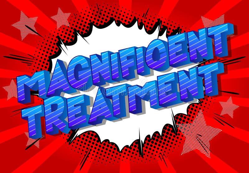 Ausgezeichnete Behandlung - Comic-Buch-Artwörter lizenzfreie abbildung