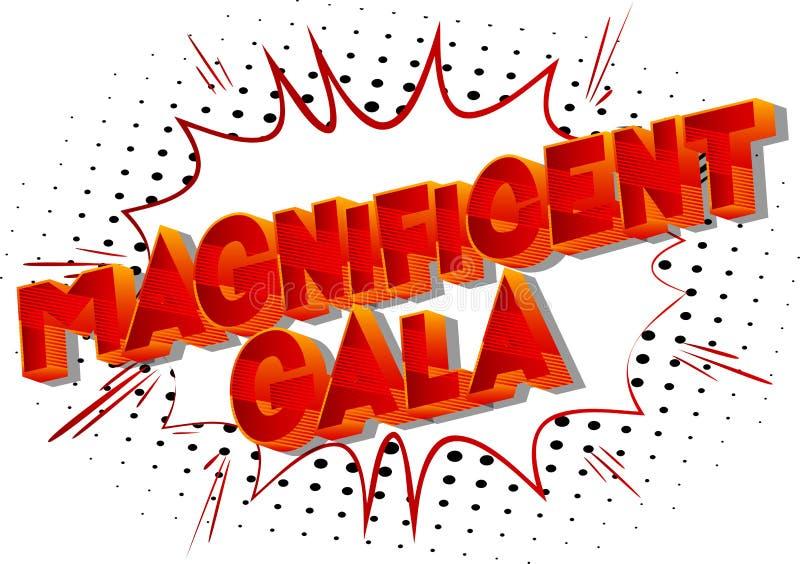Ausgezeichnete Gala - Comic-Buch-Artwörter lizenzfreie abbildung