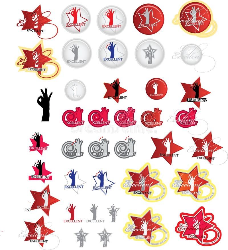 Ausgezeichnete Ikone lizenzfreie abbildung