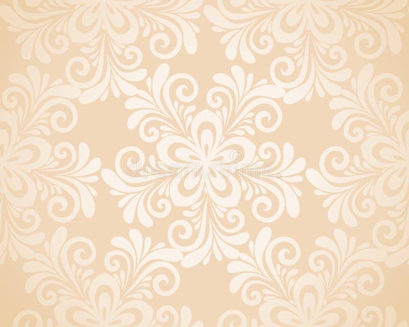 Ausgezeichneter nahtloser Blumenhintergrund mit Blumen  lizenzfreie abbildung