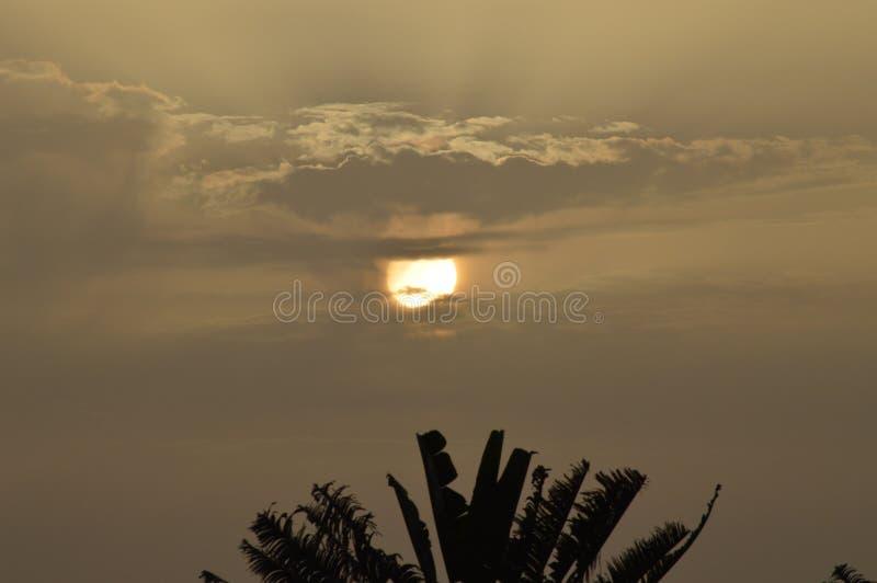 Ausgezeichneter Sonnenuntergang in Paradise der Insel von La Palma In The Canary Islands r 8. Juli 2015 Isla lizenzfreie stockfotografie