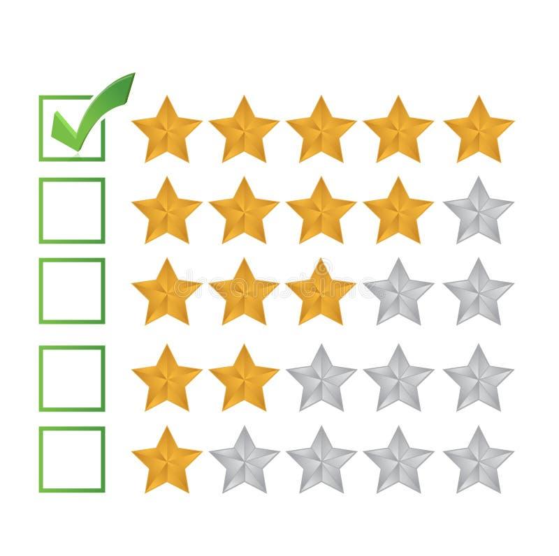 Ausgezeichnetes Berichtbewertungs-Illustrationsdesign lizenzfreie abbildung