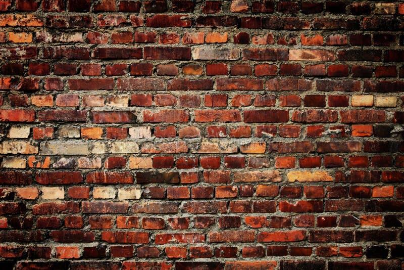 Aushwitzbakstenen muur royalty-vrije stock afbeeldingen